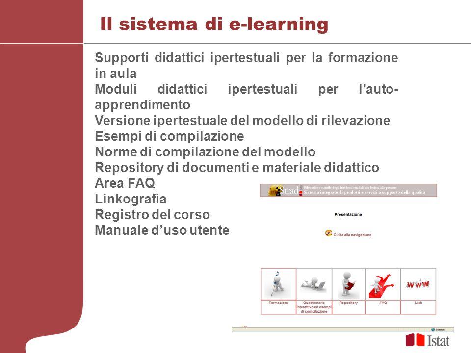 Il sistema di e-learning Supporti didattici ipertestuali per la formazione in aula Moduli didattici ipertestuali per lauto- apprendimento Versione ipe