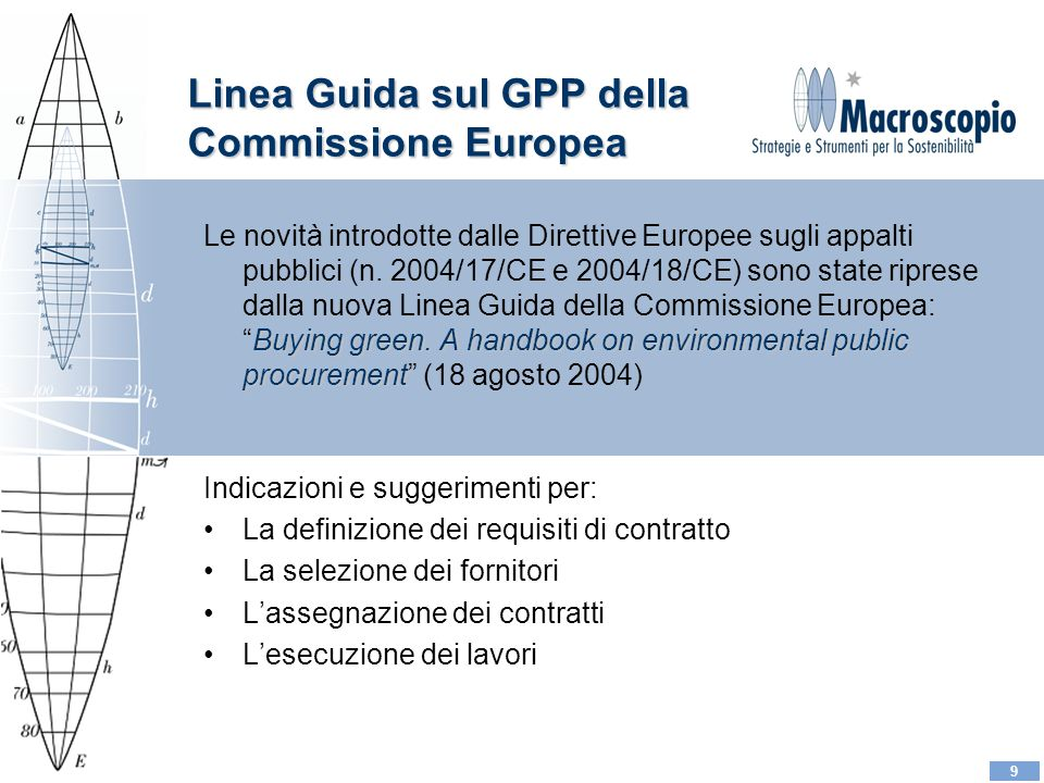 9 Linea Guida sul GPP della Commissione Europea Buying green.
