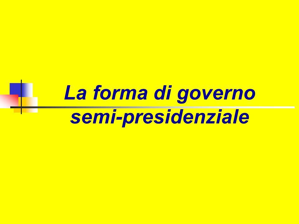 La forma di governo semi-presidenziale