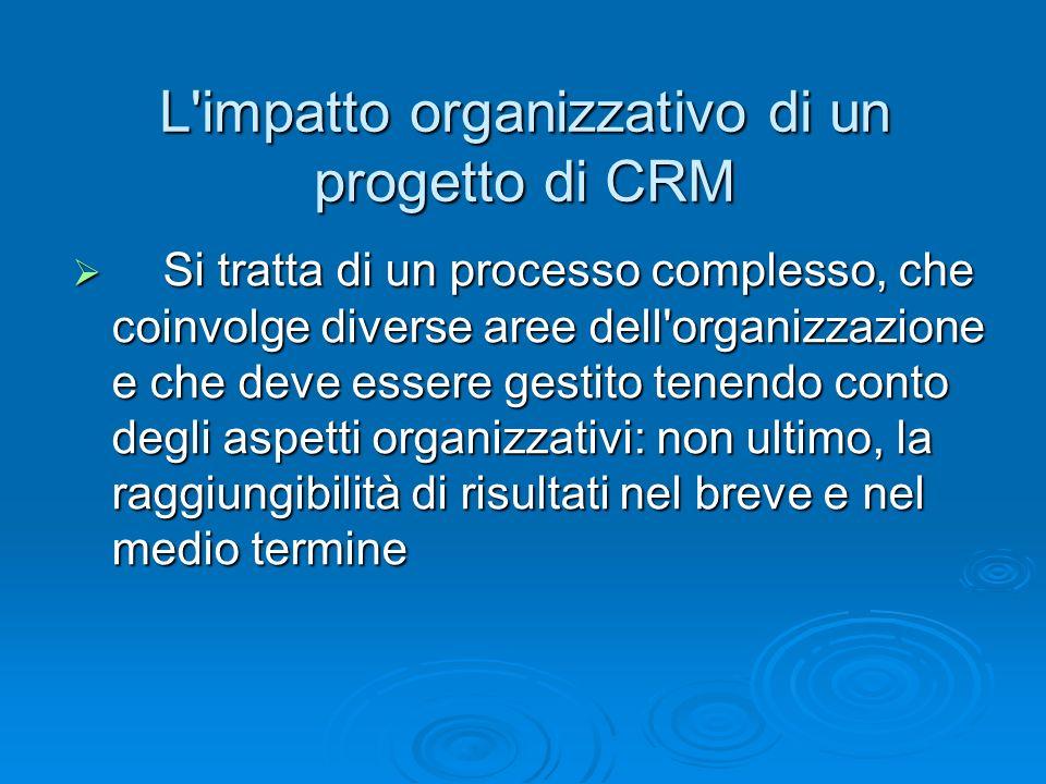 Si tratta di un processo complesso, che coinvolge diverse aree dell'organizzazione e che deve essere gestito tenendo conto degli aspetti organizzativi