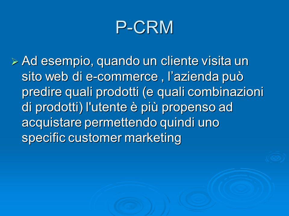 Ad esempio, quando un cliente visita un sito web di e-commerce, lazienda può predire quali prodotti (e quali combinazioni di prodotti) l'utente è più
