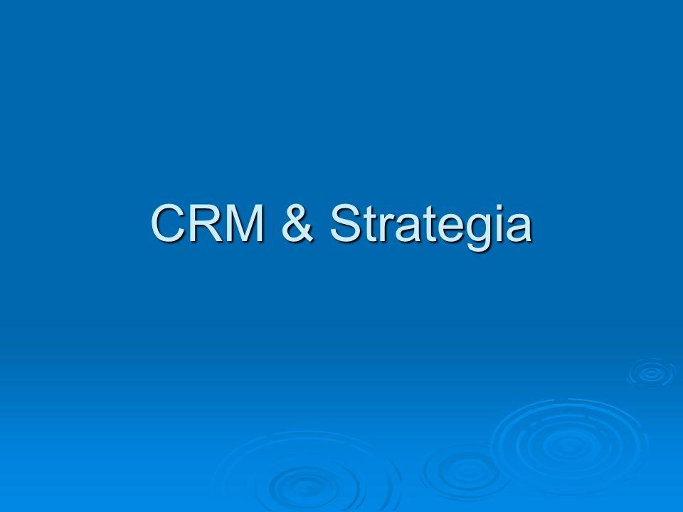 Crm & strategia Il ruolo del Cliente sta acquisendo sempre più importanza.