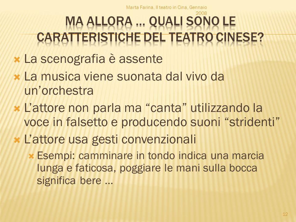 La scenografia è assente La musica viene suonata dal vivo da unorchestra Lattore non parla ma canta utilizzando la voce in falsetto e producendo suoni