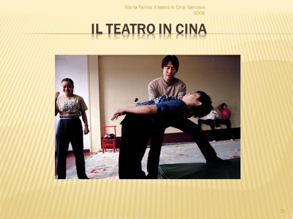 Marta Farina, Il teatro in Cina, Gennaio 2008 20