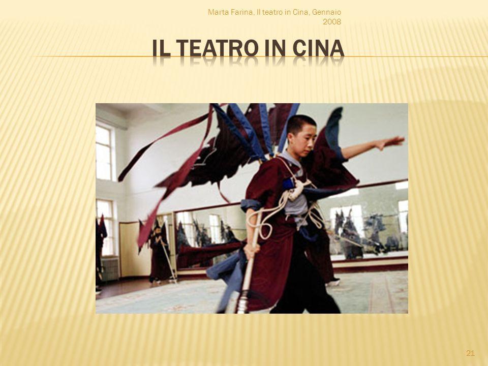 Marta Farina, Il teatro in Cina, Gennaio 2008 21