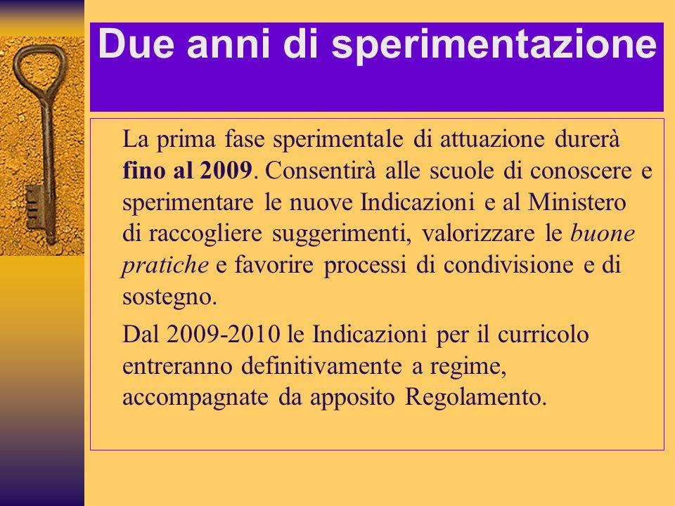 Lorganizzazione Le Indicazioni sono proposte culturali ma non toccano lorganizzazione oraria degli insegnanti.