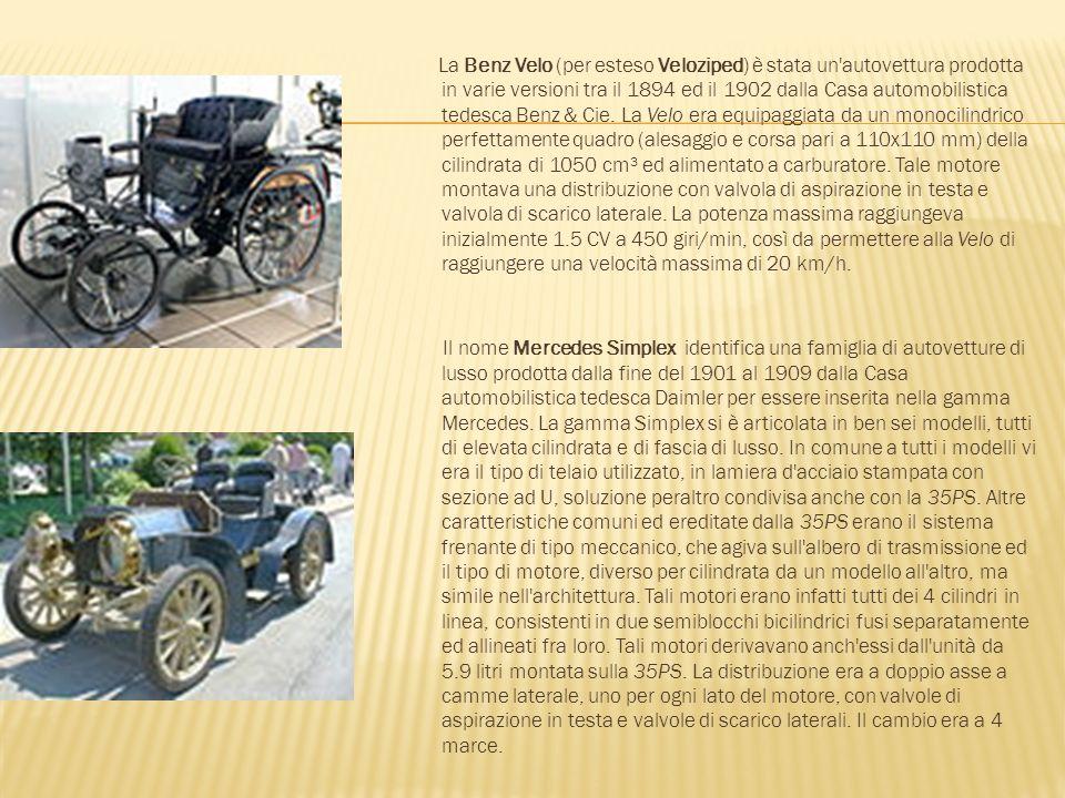 La Benz Velo (per esteso Veloziped) è stata un'autovettura prodotta in varie versioni tra il 1894 ed il 1902 dalla Casa automobilistica tedesca Benz &