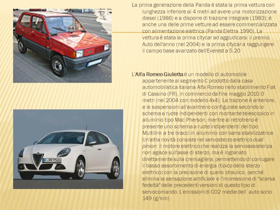 La prima generazione della Panda è stata la prima vettura con lunghezza inferiore ai 4 metri ad avere una motorizzazione diesel (1986) e a disporre di