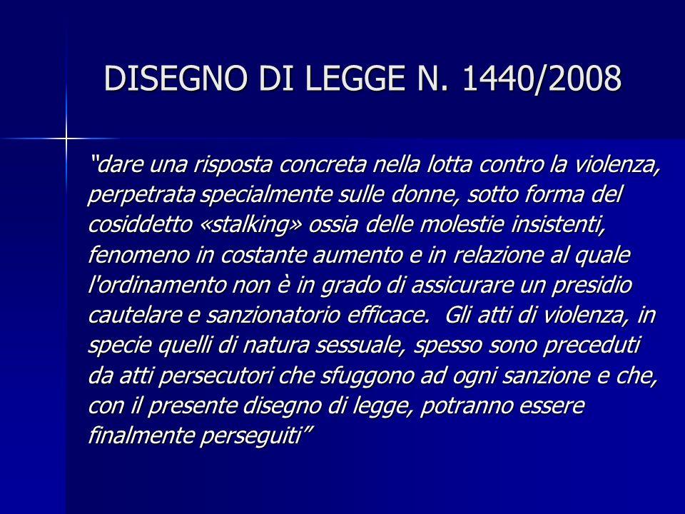 DISEGNO DI LEGGE N.