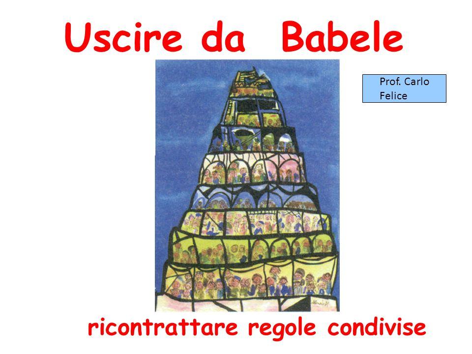 Uscire da Babele ricontrattare regole condivise Prof. Carlo Felice