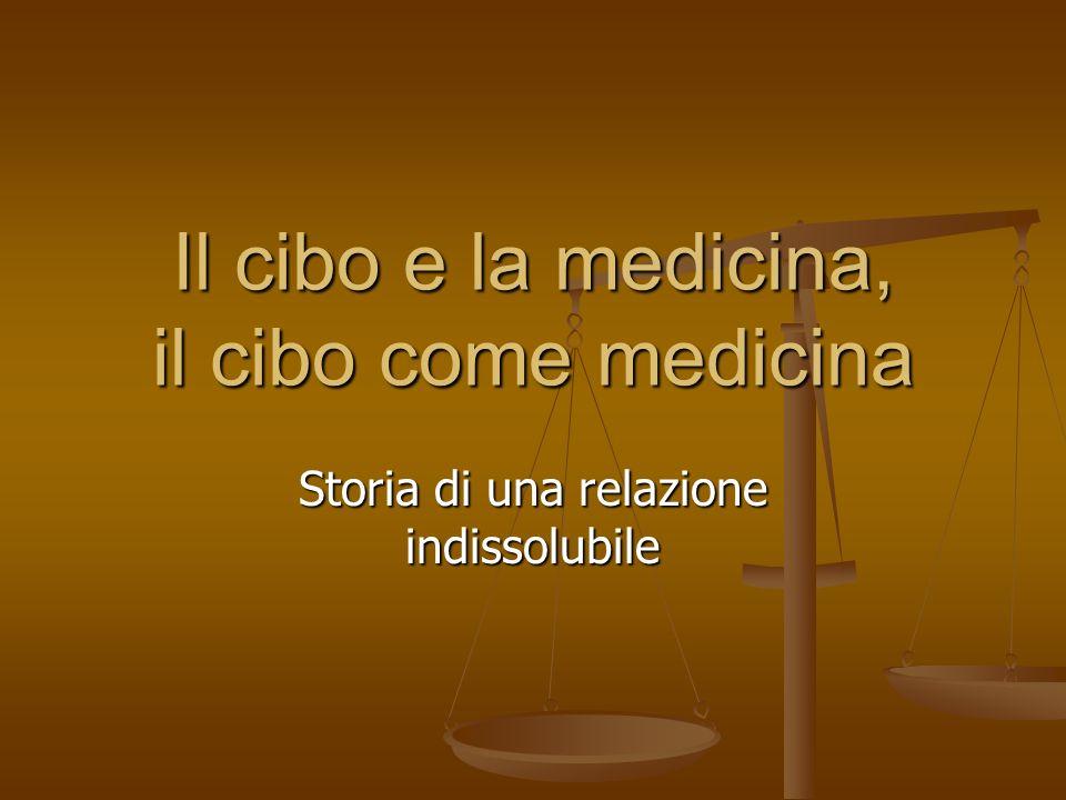 La medicina nasce con luso del cibo La nascita della medicina, a Oriente e a Occidente, ha nelluso dei cibi il suo elemento fondante.