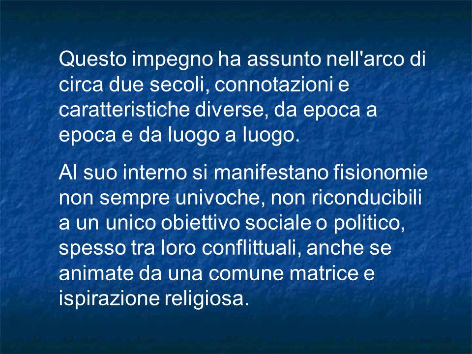 Con la caduta del fascismo si assiste in Italia a una eccezionale ripresa dell associazionismo cattolico.