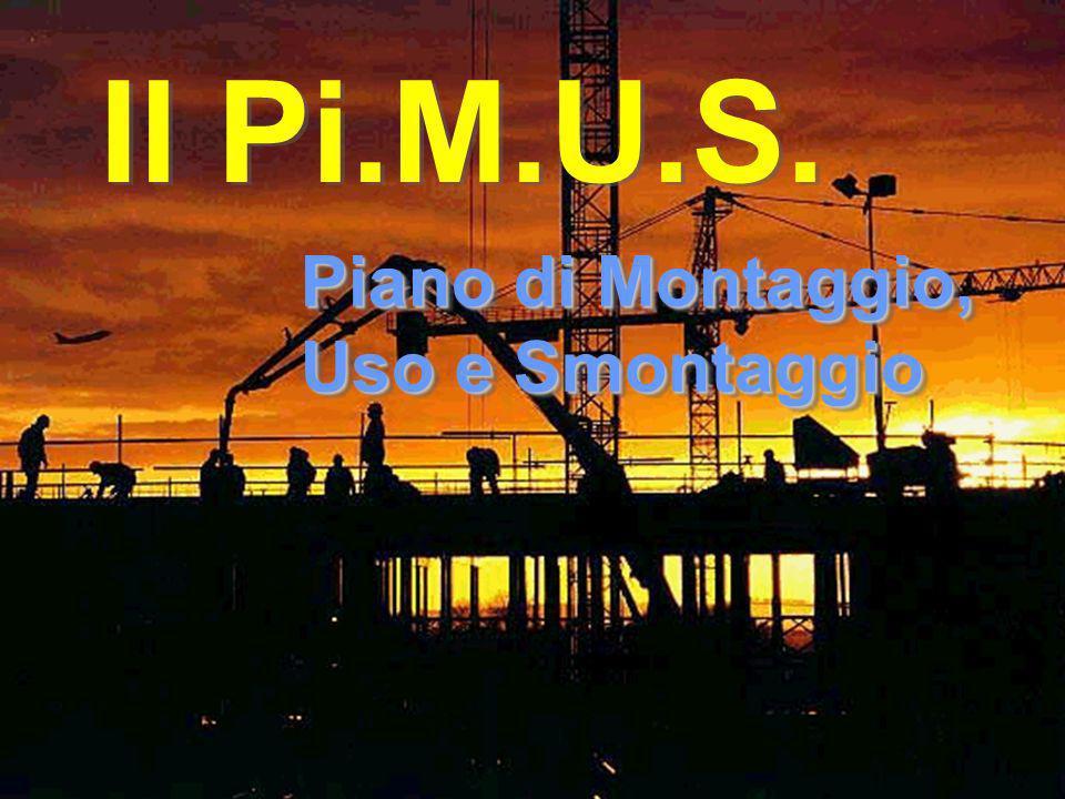 IL PiMUS Il Pi.M.U.S. Piano di Montaggio, Uso e Smontaggio