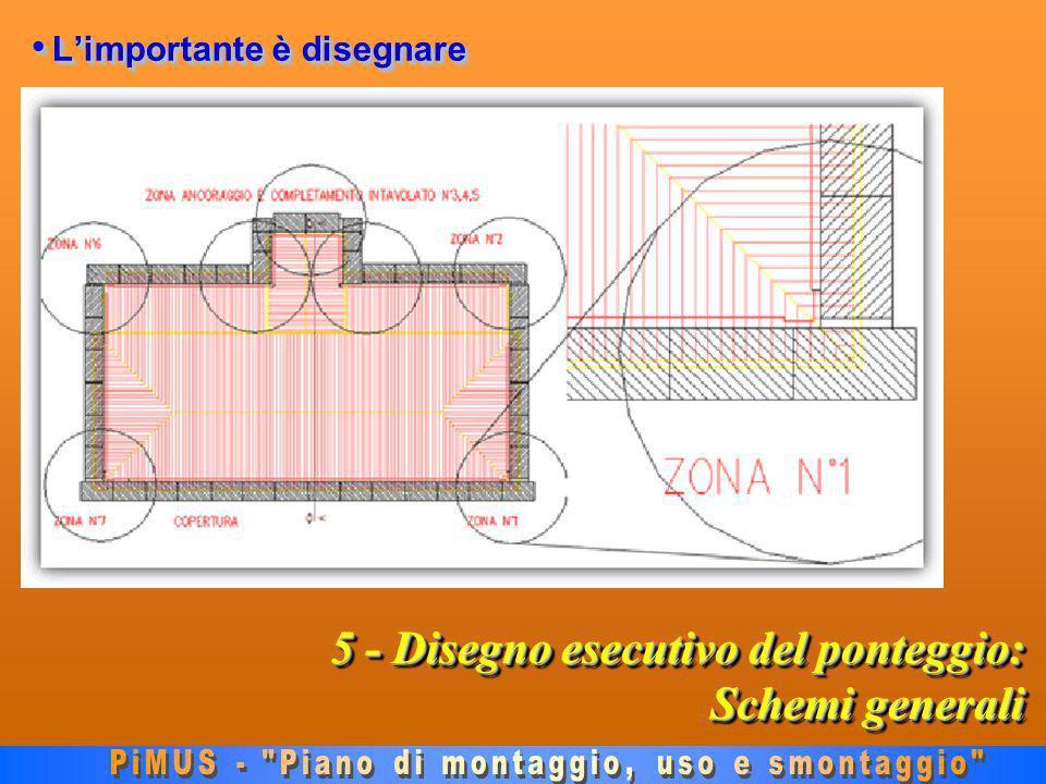 5 - Disegno esecutivo del ponteggio: Schemi generali Limportante è disegnare Limportante è disegnare