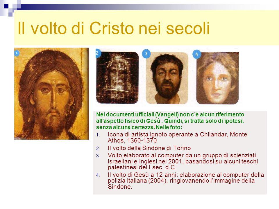 Il volto di Cristo nei secoli Nei documenti ufficiali (Vangeli) non cè alcun riferimento allaspetto fisico di Gesù. Quindi, si tratta solo di ipotesi,
