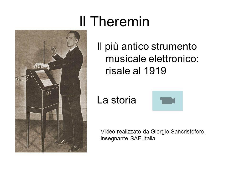 Il Theremin Il più antico strumento musicale elettronico: risale al 1919 La storia Video realizzato da Giorgio Sancristoforo, insegnante SAE Italia