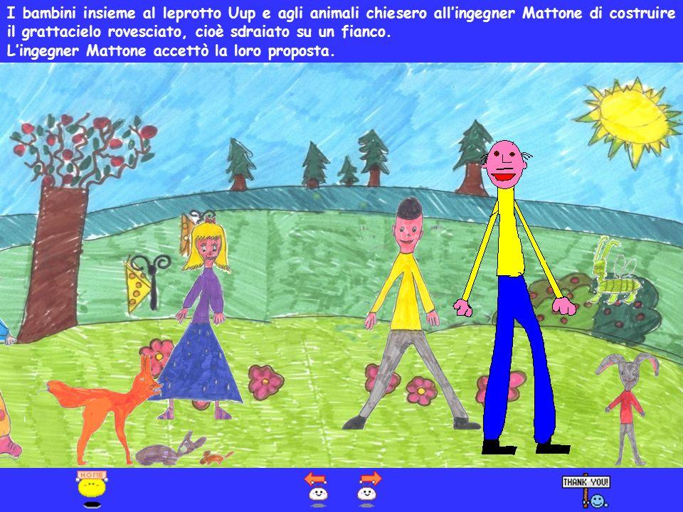 Uup fortunatamente venne salvato da Matteo e Federica con i suoi amici. Uup raccontò ai bambini che nella radura di Pratovecchio erano arrivate delle