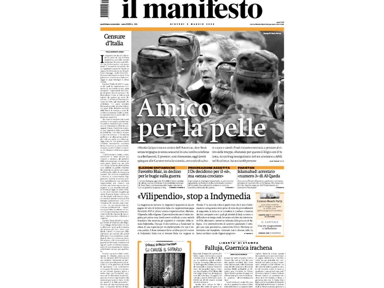Senza limmagine Siamo al 99, governo di centrosinistra La prima guerra della sinistra italiana al governo La sinistra si spacca in due, il giornale sceglie senza sfumature il fronte anti- guerra Primo giorno di guerra nei Balcani: