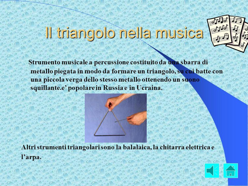 Il triangolo nella geometria Il triangolo più conosciuto nel mondo è quello geometrico. Clicca qui per vedere una piccola ricerca su questargomento.Cl