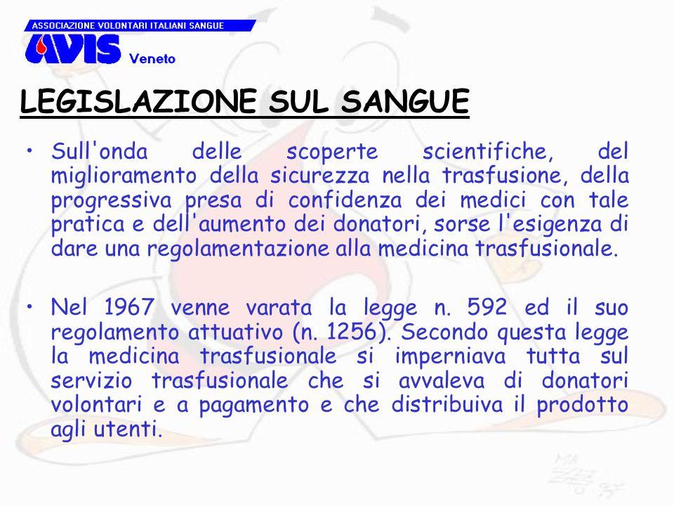 LEGISLAZIONE REGIONALE Oltre alla legge 219/05 la presenza dei volontari e delle loro organizzazioni la troviamo nella Legge Regione Veneto n.