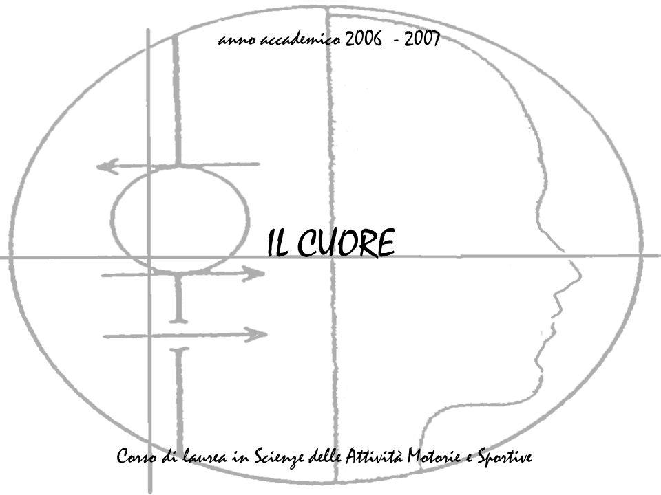 IL CUORE anno accademico 2006 - 2007 Corso di laurea in Scienze delle Attività Motorie e Sportive