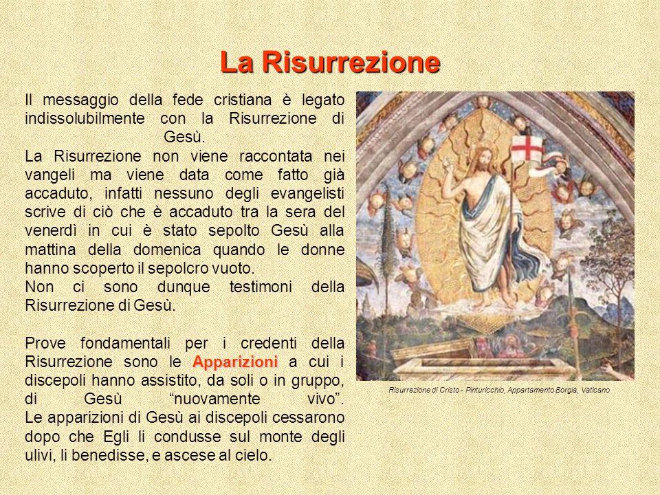 La Risurrezione Risurrezione di Cristo - Pinturicchio, Appartamento Borgia, Vaticano Il messaggio della fede cristiana è legato indissolubilmente con