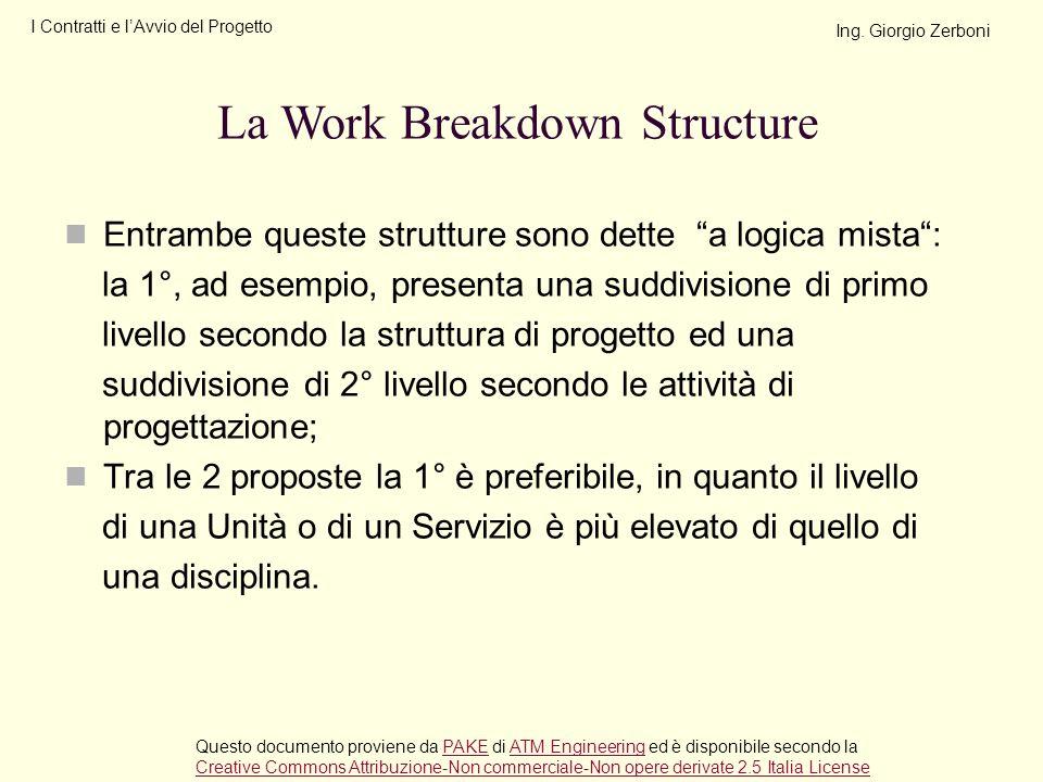 Entrambe queste strutture sono dette a logica mista: la 1°, ad esempio, presenta una suddivisione di primo livello secondo la struttura di progetto ed