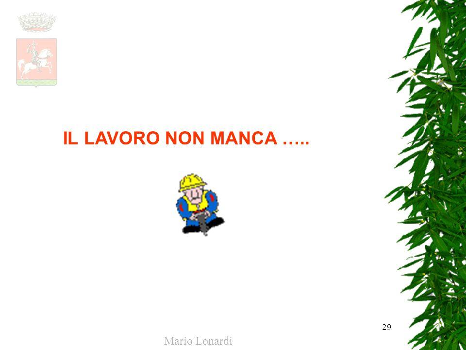 29 IL LAVORO NON MANCA ….. Mario Lonardi