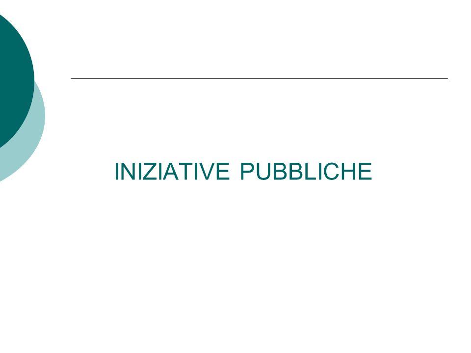 INIZIATIVE PUBBLICHE