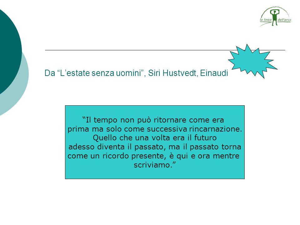 Da Lestate senza uomini, Siri Hustvedt, Einaudi Il tempo non può ritornare come era prima ma solo come successiva rincarnazione. Quello che una volta