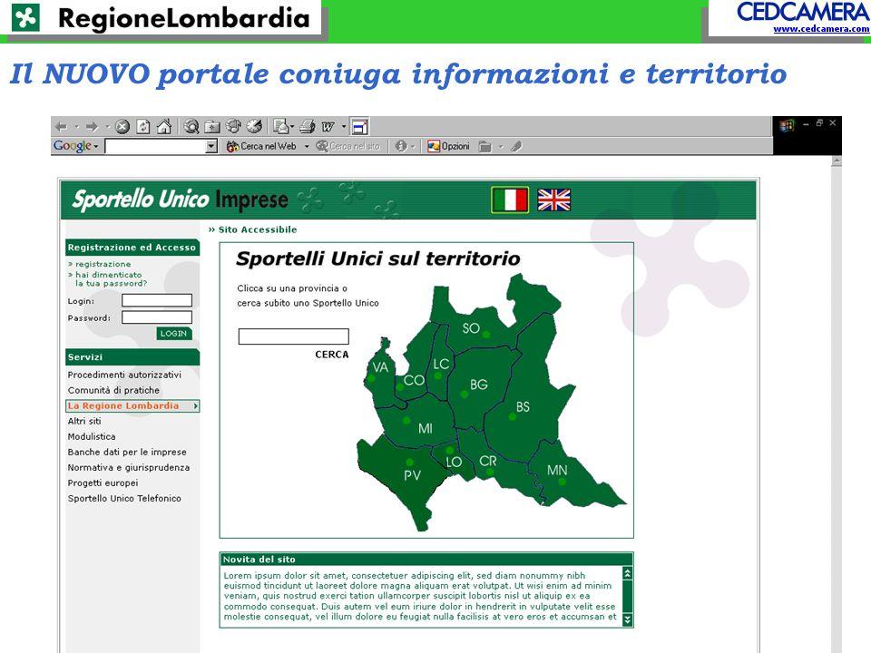 Il NUOVO portale coniuga informazioni e territorio