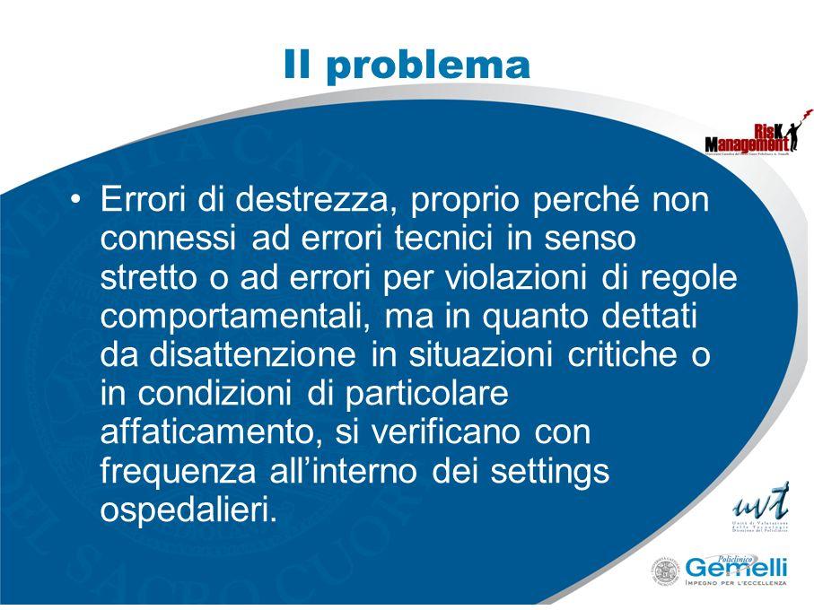 Il problema Errori di destrezza, proprio perché non connessi ad errori tecnici in senso stretto o ad errori per violazioni di regole comportamentali,