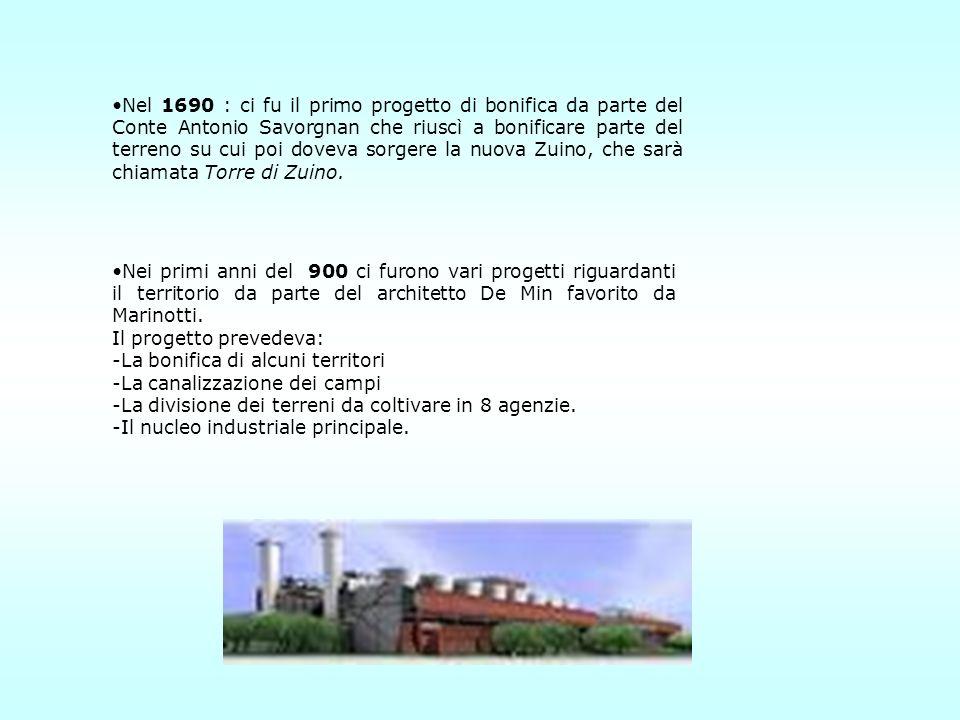 Nel 1690 : ci fu il primo progetto di bonifica da parte del Conte Antonio Savorgnan che riuscì a bonificare parte del terreno su cui poi doveva sorger