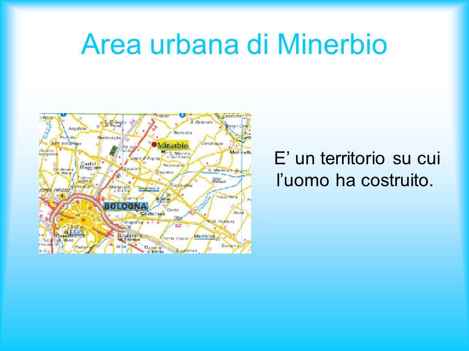 Area urbana di Minerbio E un territorio su cui luomo ha costruito.