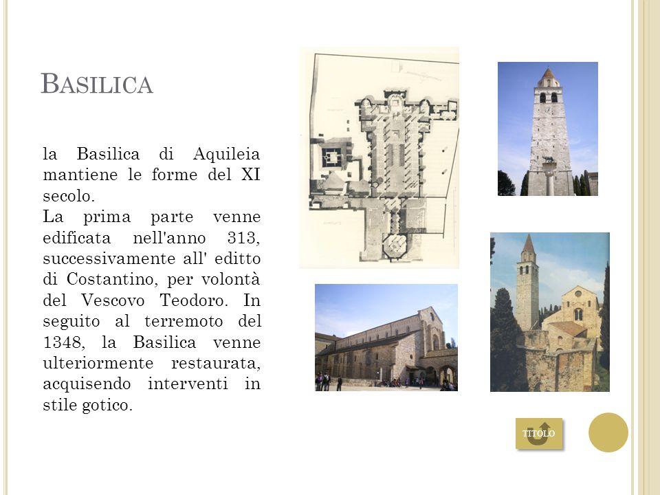 M ONUMENTI E LUOGHI DI INTERESSI Basilica Il Battistero Museo archeologico Porto fluviale HOME