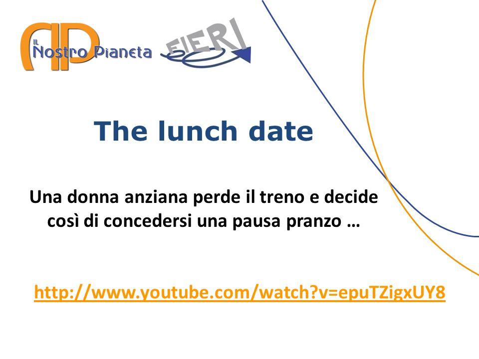 The lunch date Una donna anziana perde il treno e decide così di concedersi una pausa pranzo … http://www.youtube.com/watch?v=epuTZigxUY8