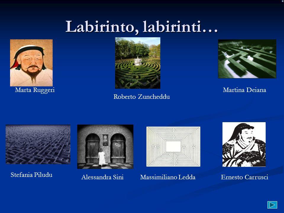 Labirinto, labirinti… Marta Ruggeri Roberto Zuncheddu Martina Deiana Stefania Piludu Massimiliano LeddaErnesto Carrusci Alessandra Sini