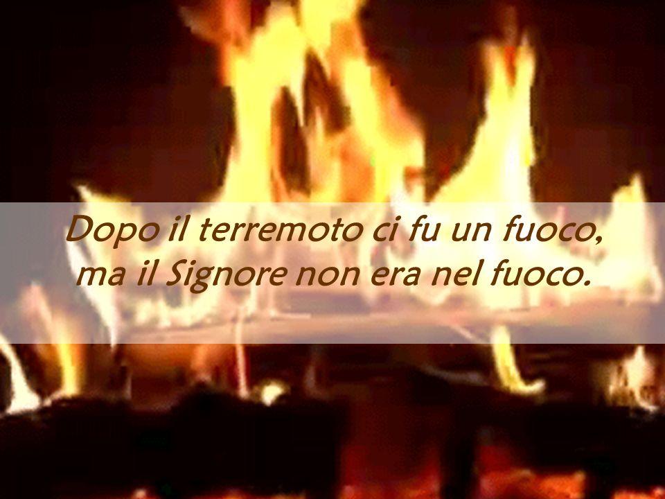 Dopo il terremoto ci fu un fuoco, ma il Signore non era nel fuoco.