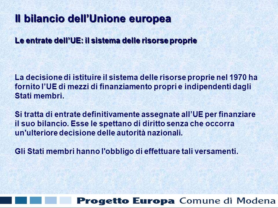 Il bilancio provvisorio 2007: le entrate in Il bilancio provvisorio 2007: le entrate in Prelievi agricoli e Dazi doganali 17.307.700.000 Aliquota IVA 17.827.409.252 Percentuale RNL 78.279.615.655 Altre entrate 1.198.094.459 Totale delle entrate 114.612.819.366 Il bilancio dellUnione europea