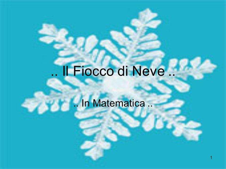 1.. Il Fiocco di Neve.... In Matematica..