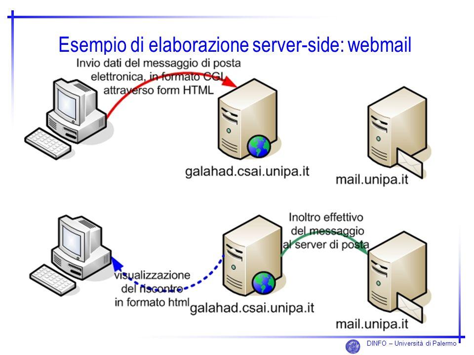 DINFO – Università di Palermo Esempio di elaborazione server-side: webmail