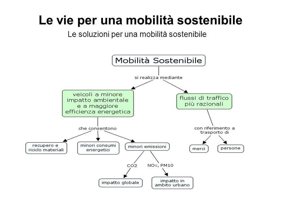 Le vie per una mobilità sostenibile Le soluzioni per una mobilità sostenibile