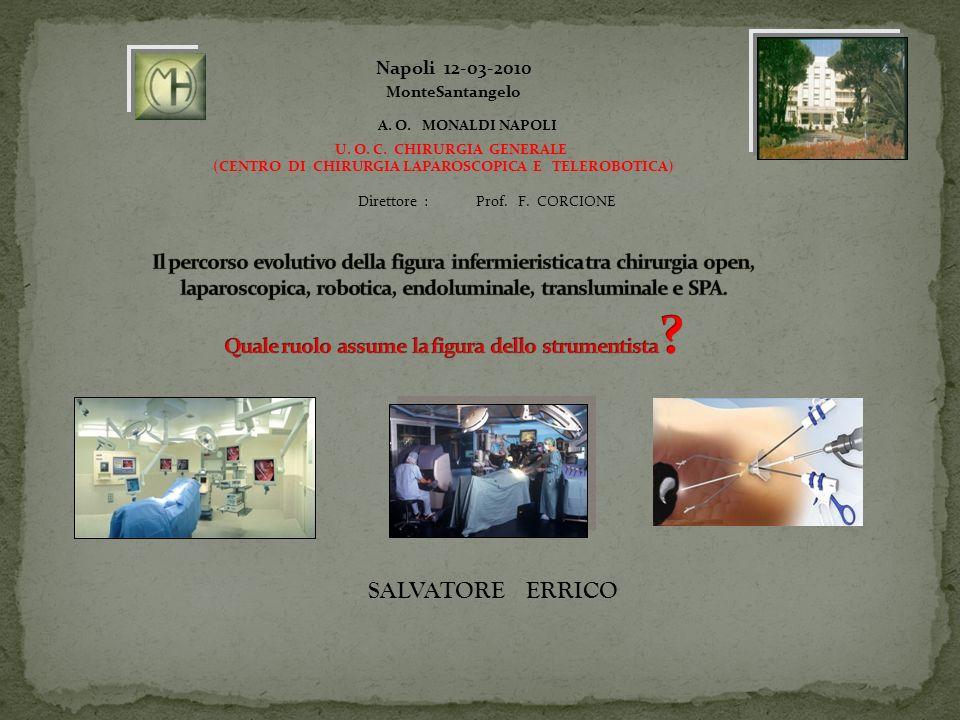 Single Port Access Prof F Corcione nel 2009 è stato il secondo in Italia ad utilizzare due procedure di colecistectomia con single port access.