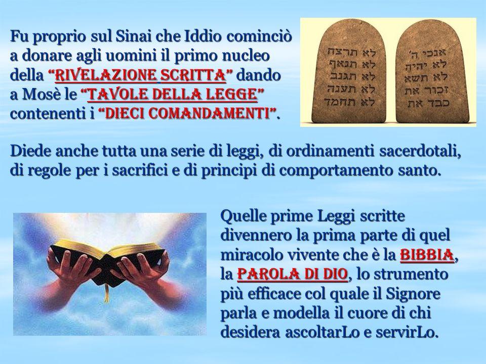 Quelle prime Leggi scritte divennero la prima parte di quel miracolo vivente che è la Bibbia, la Parola di Dio, lo strumento più efficace col quale il
