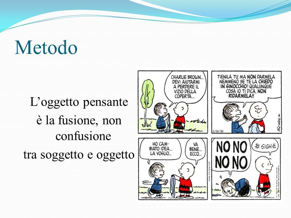 Metodo Loggetto pensante è la fusione, non confusione tra soggetto e oggetto