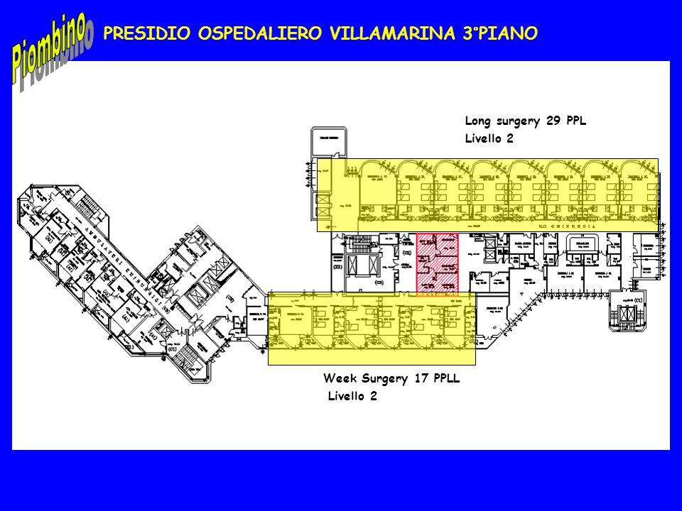 PRESIDIO OSPEDALIERO VILLAMARINA 3°PIANO Long surgery 29 PPL Livello 2 Week Surgery 17 PPLL Livello 2