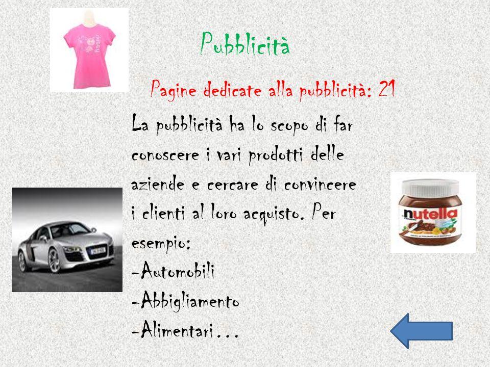 Salute 6)Le pagine della salute indicano prodotti utili per eventuali malattie.
