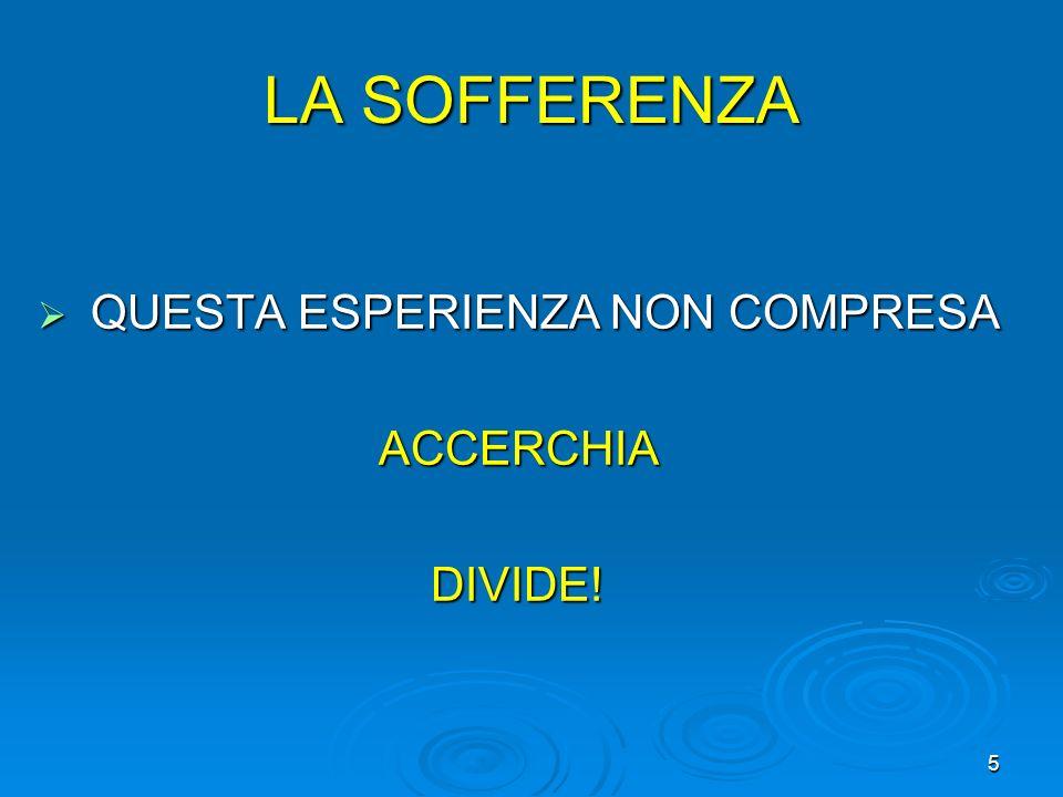 QUESTA ESPERIENZA NON COMPRESA QUESTA ESPERIENZA NON COMPRESA ACCERCHIA ACCERCHIA DIVIDE! DIVIDE! 5