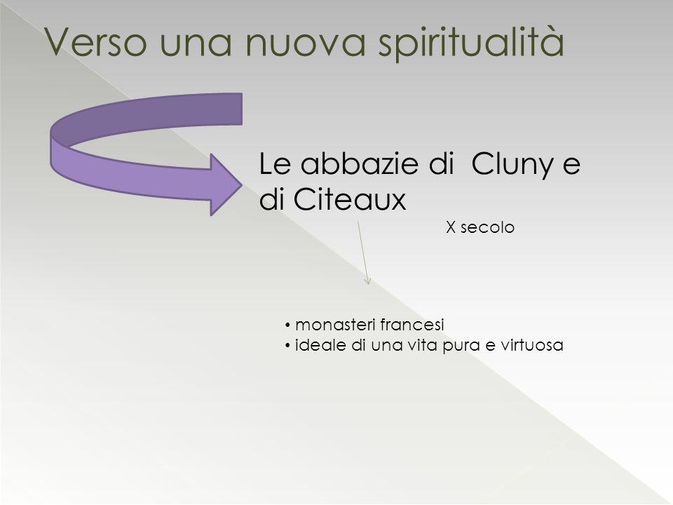 Verso una nuova spiritualità Le abbazie di Cluny e di Citeaux X secolo monasteri francesi ideale di una vita pura e virtuosa