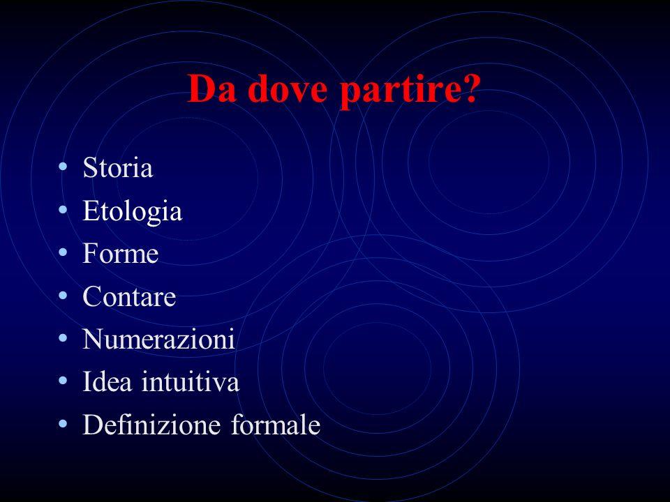 IL NUMERO …qualche idea… Michele Picotti Liceo Pedagogico e delle Scienze Sociali Carlo Montanari Verona